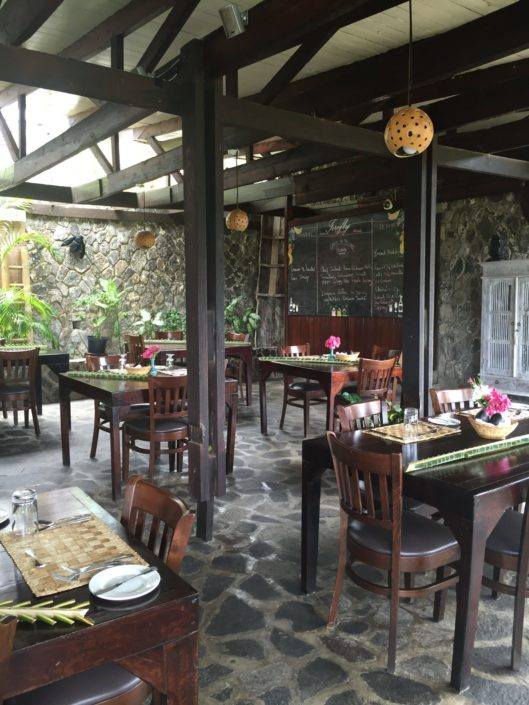 Charming eating area in the Firefly Restaurant