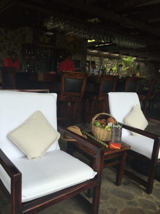 The Firefly Bar and its lounge area with staff ready to serve