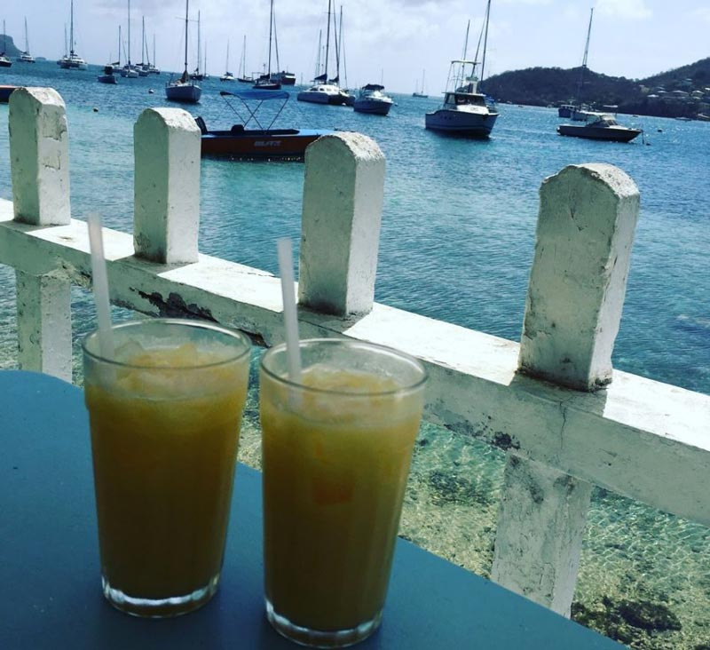 Drinks at Tommy's Cantina, Bequia