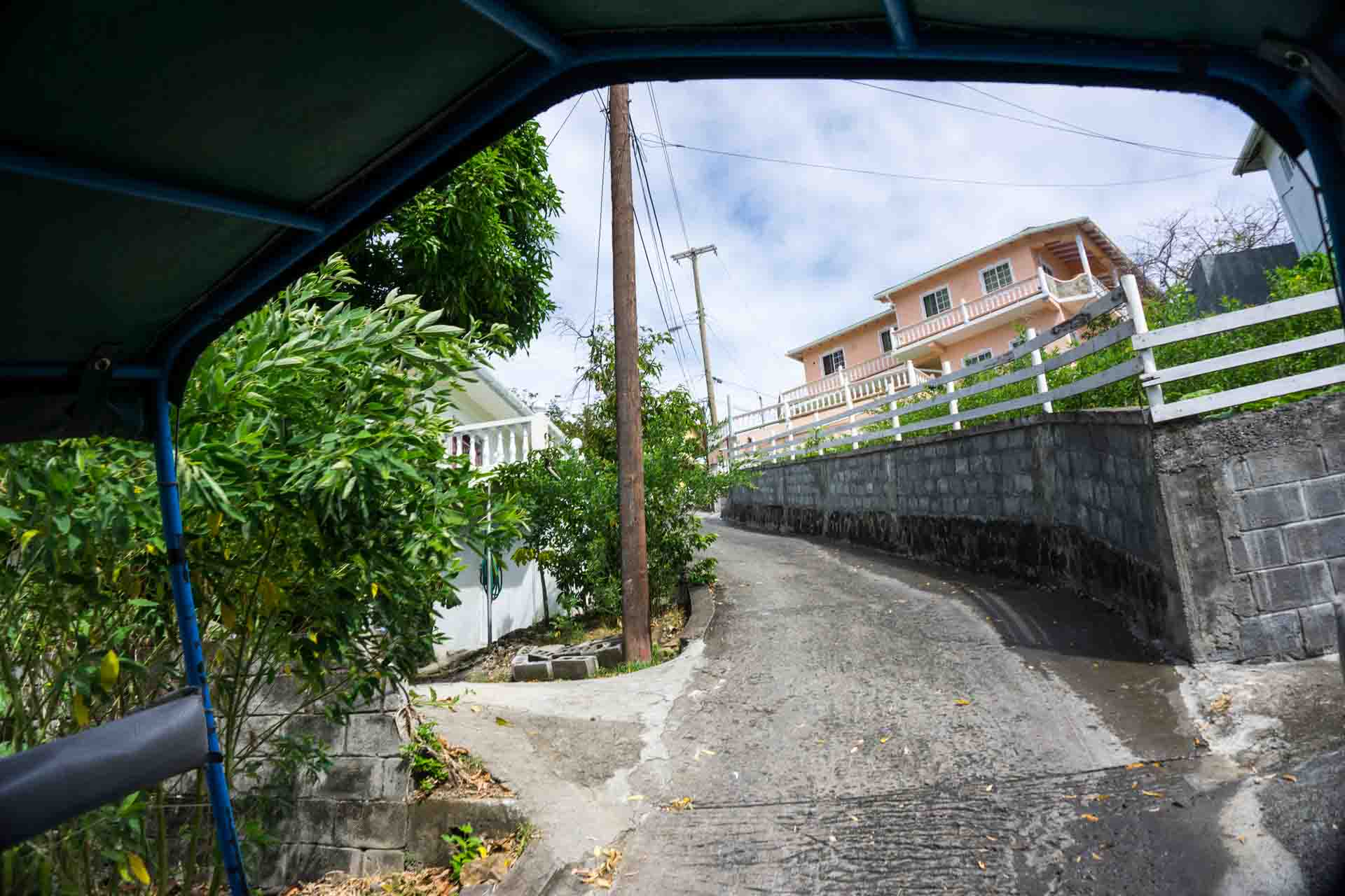 Hamilton Bequia steep road