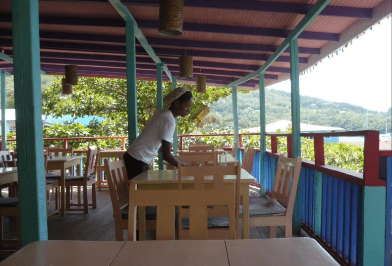 Tables at Coco's Place, Bequia
