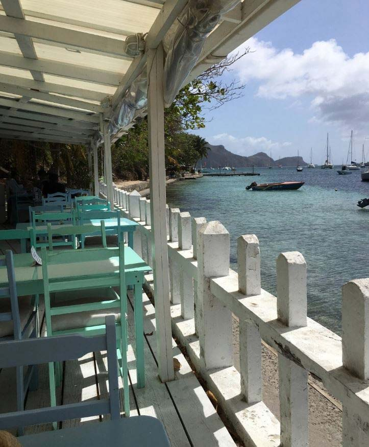 Tables at Tommy's Cantina, Bequia