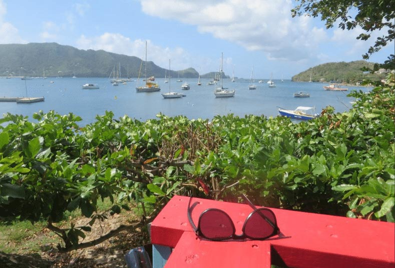 View over Admiralty Bay from Coco's Place, Bequia